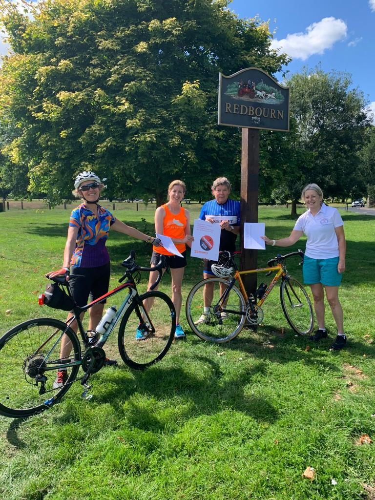 active in redbourn new cycle way petition team